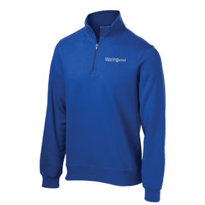 ADULT, 1/4-Zip Sweatshirt, Left Chest_Waring School Thumbnail