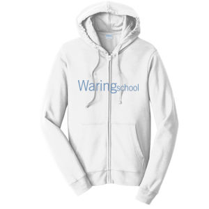 Fan Favorite Fleece Full-Zip Hooded Sweatshirt, WARIN SCHOOL/Lt Blue Thumbnail